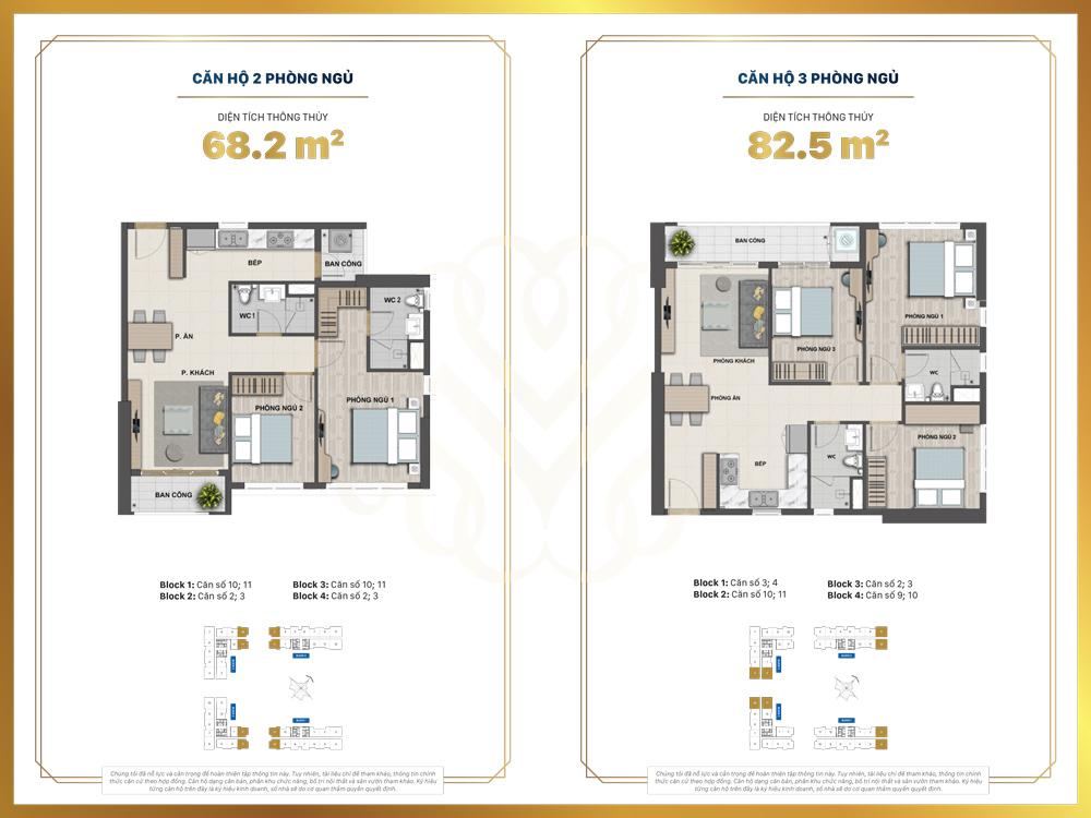 layout căn 2 phòng ngủ victoria village