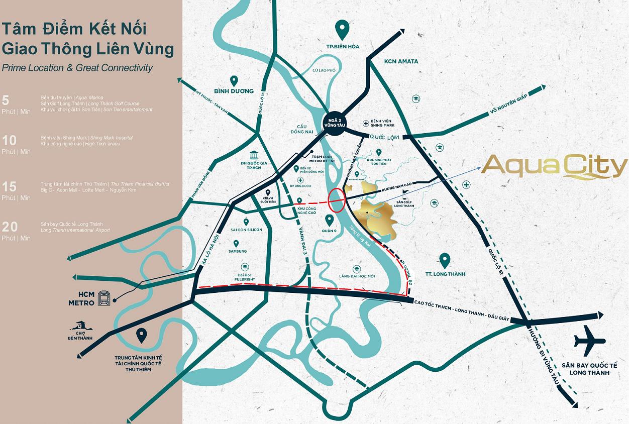vị trí aqua city