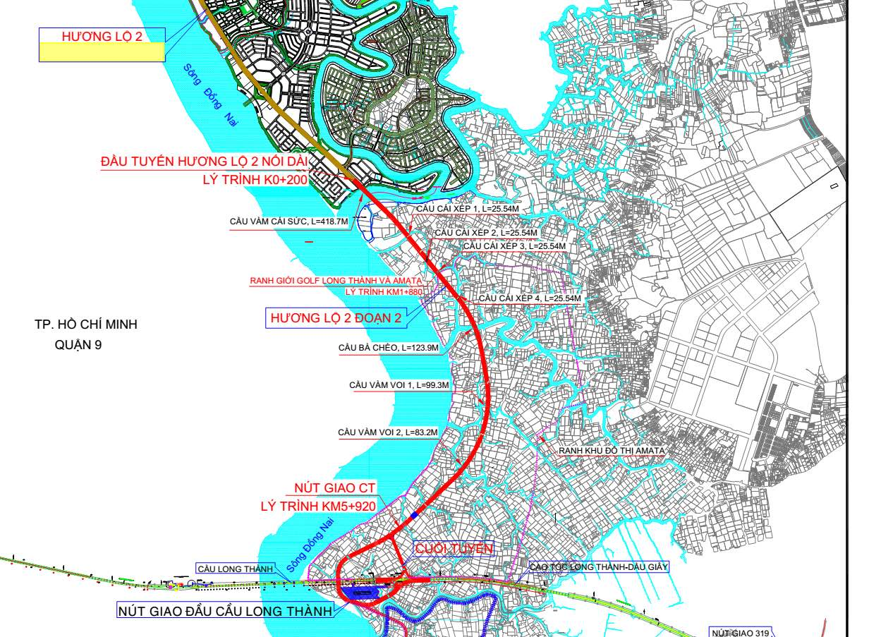 quy hoạch đường hương lộ 2 biên hòa
