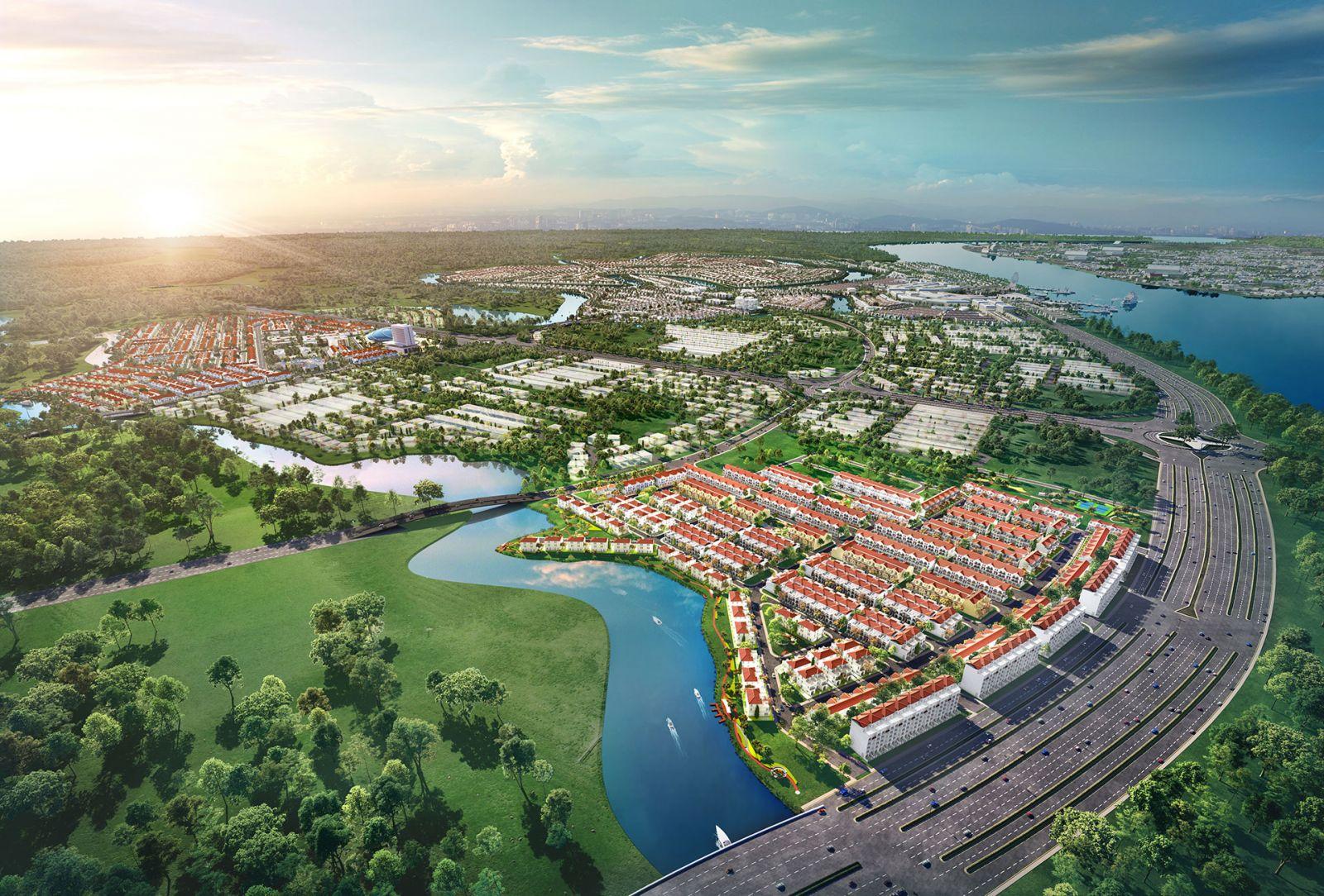 phối cảnh tổng thế aqua city